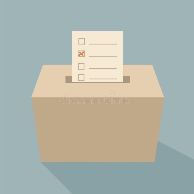 Voto dell'urna illustrazione vettoriale