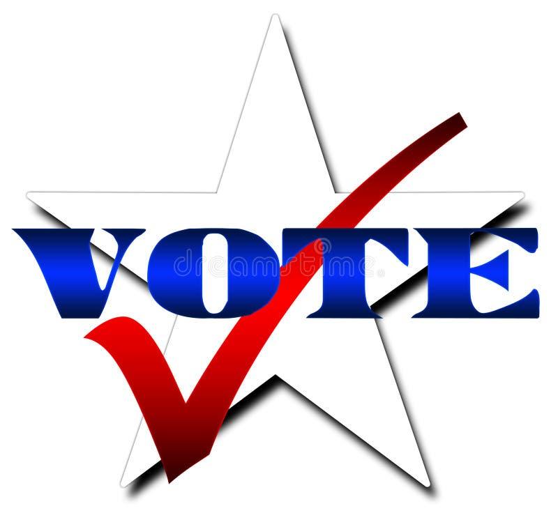 Voto della stella royalty illustrazione gratis