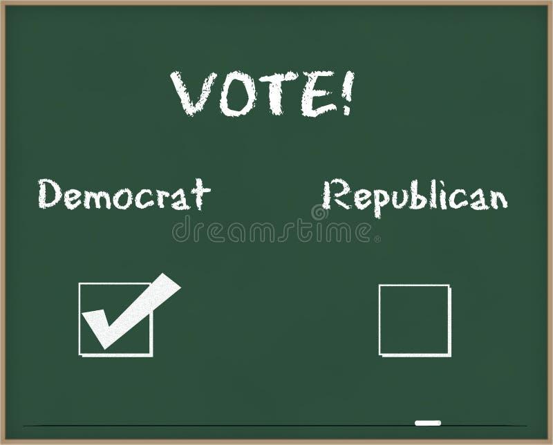 Voto Democrata imagens de stock royalty free