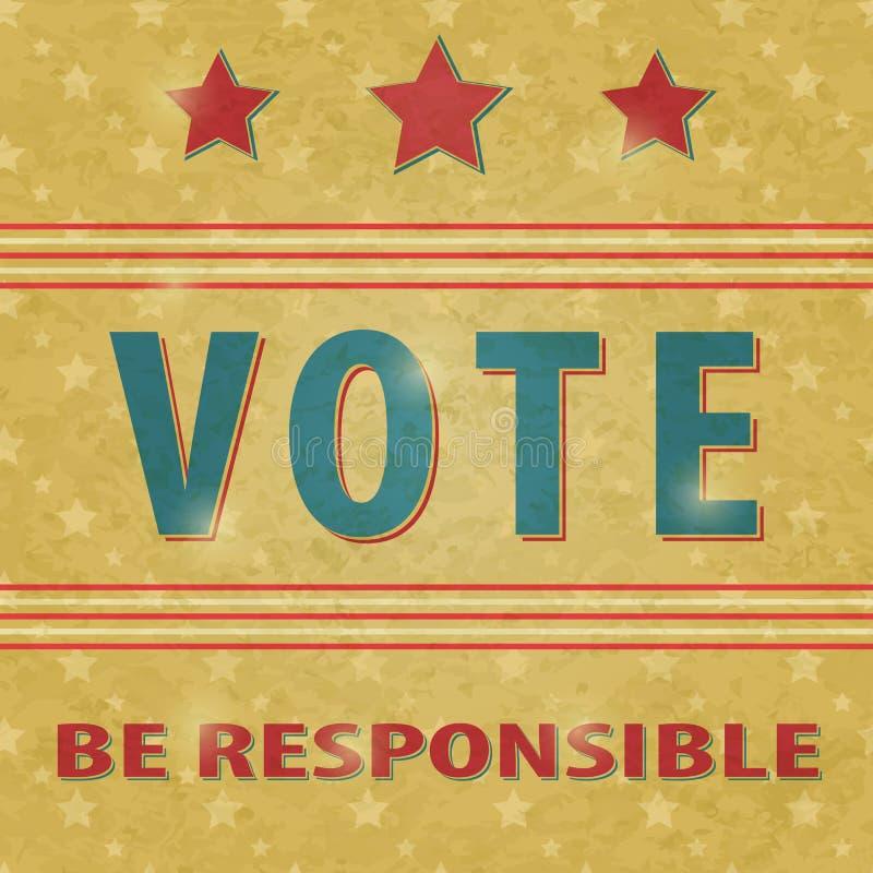 Voto di elezione presidenziale illustrazione di stock