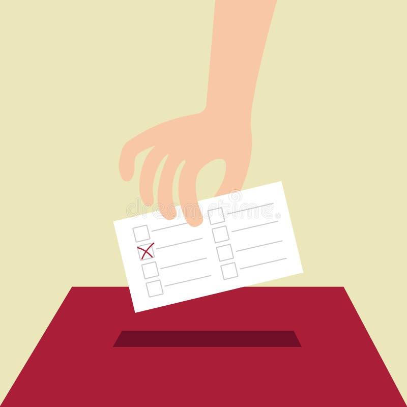 Voto di voto con la scatola illustrazione vettoriale