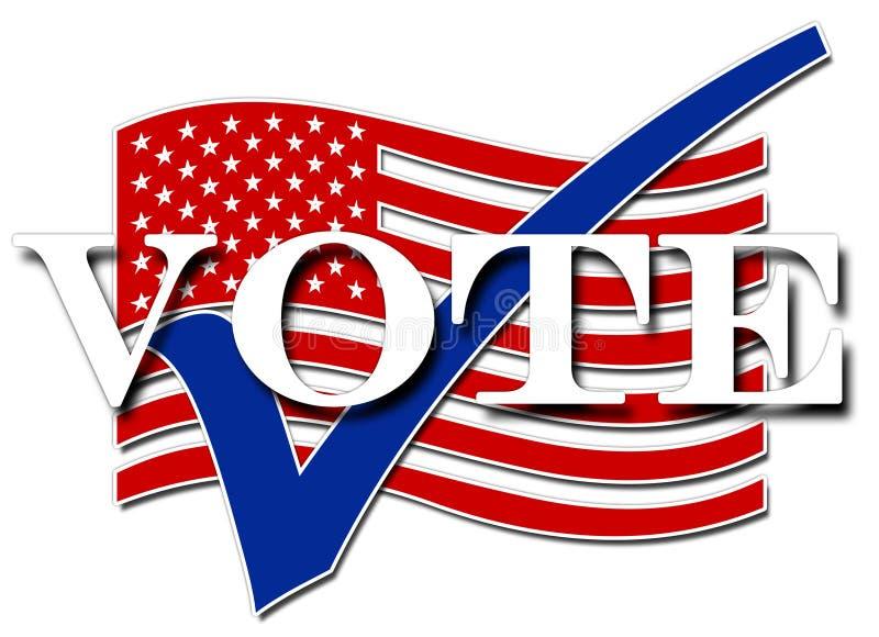 Voto dos EUA ilustração stock