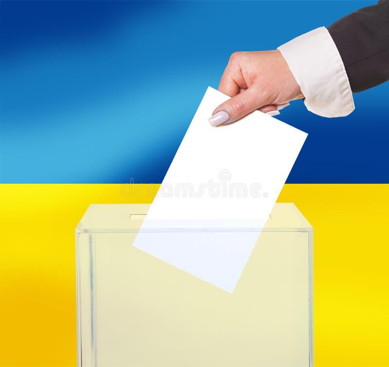Voto eleitoral pela cédula imagens de stock royalty free
