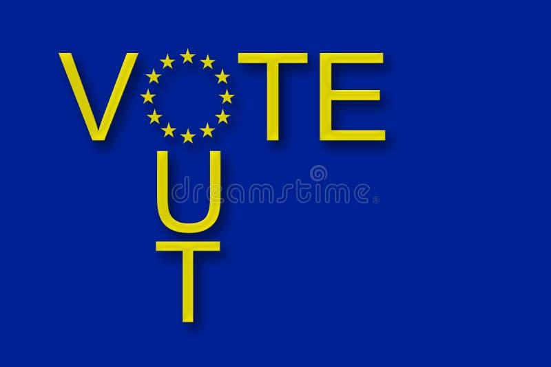 Voto fora da União Europeia imagens de stock