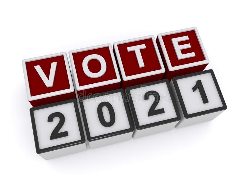 Voto 2021 ilustração stock