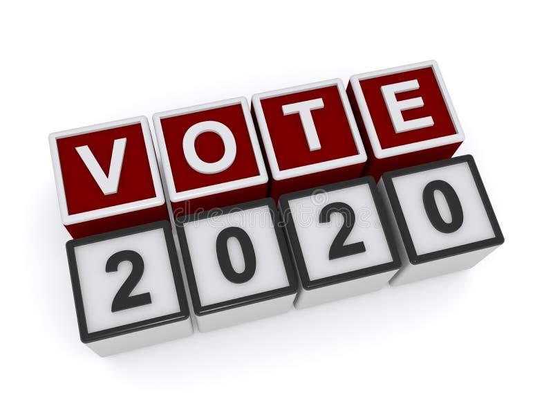 Voto 2020 ilustração royalty free