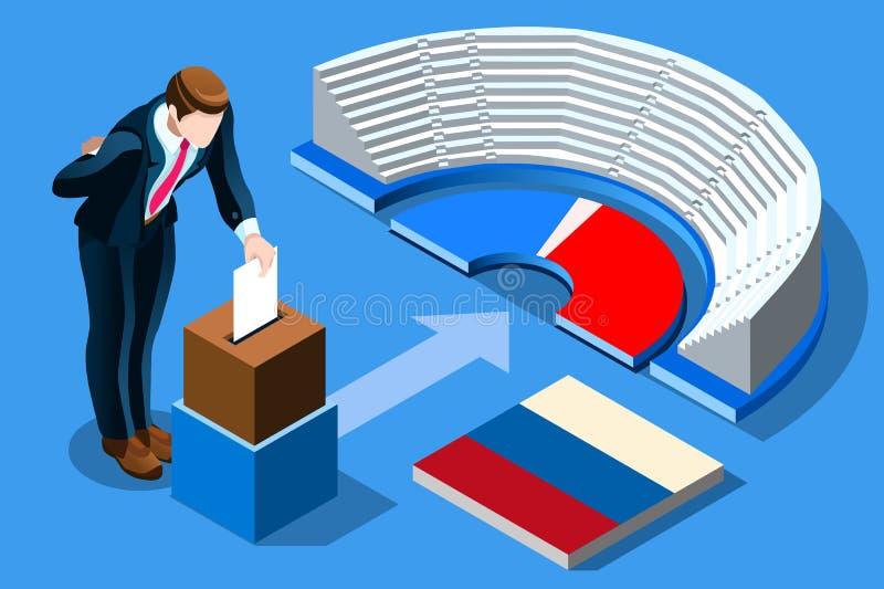 Voto Infographic do russo da eleição de Rússia ilustração do vetor