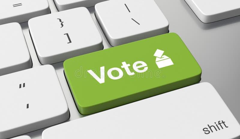Voto in linea royalty illustrazione gratis