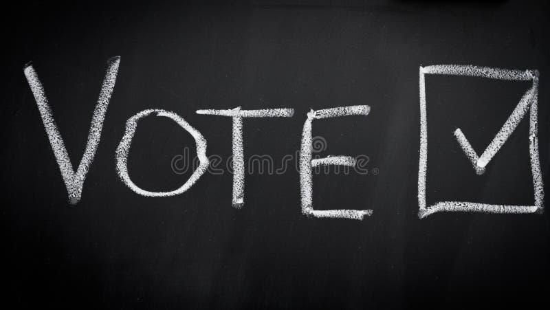 Voto nell'elezione immagini stock libere da diritti