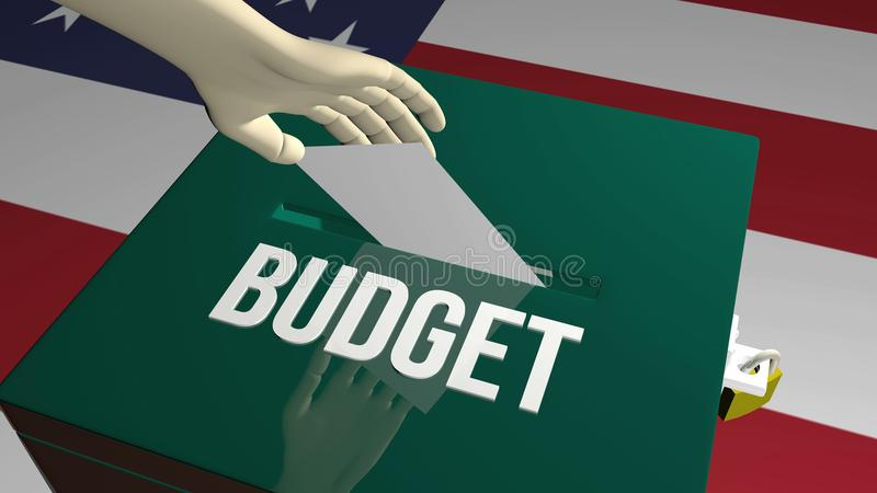 Voto no conceito do orçamento ilustração royalty free