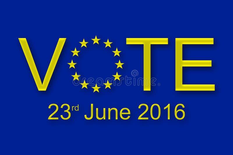 Voto o 23 de junho de 2016 fotos de stock