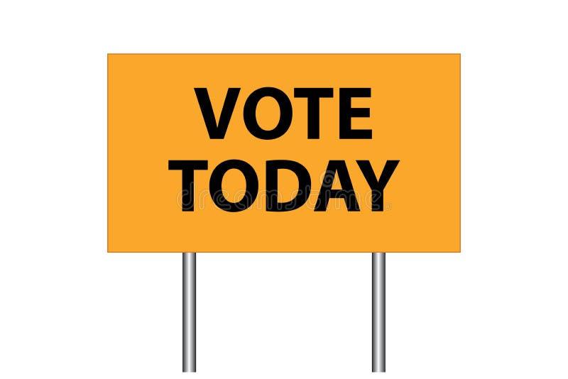 Voto oggi royalty illustrazione gratis