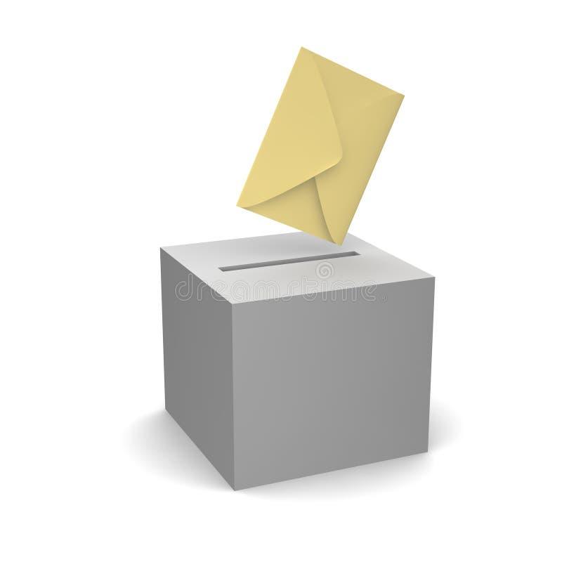 Voto ou letra da emissão ilustração royalty free