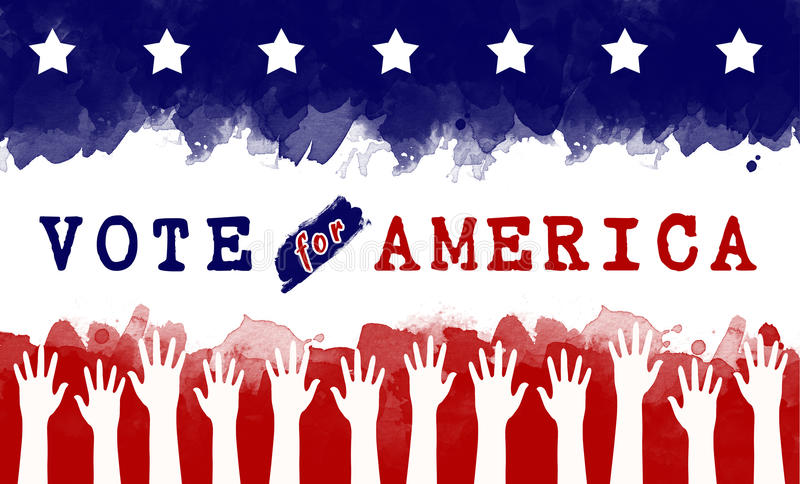 Voto para América ilustração stock