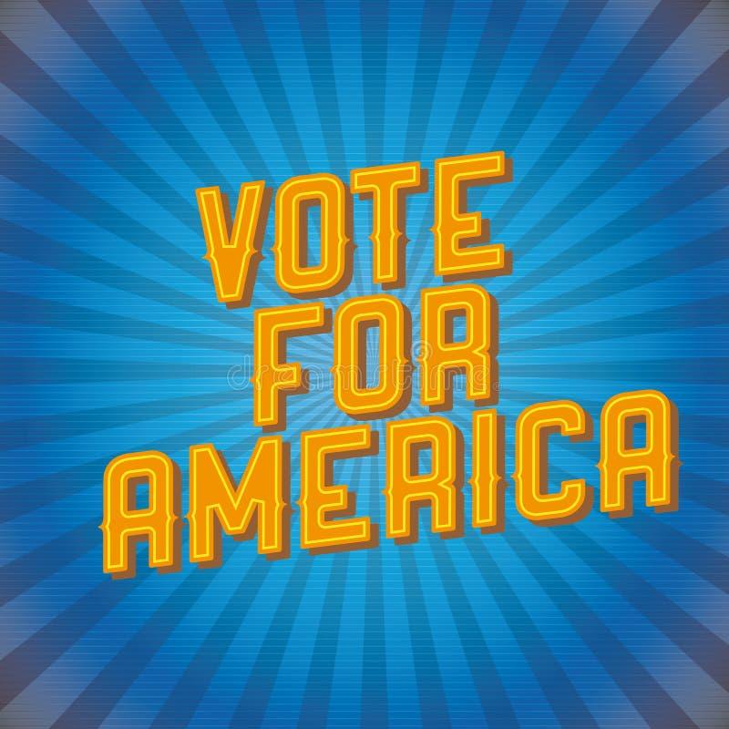 Voto para Ameriva ilustração stock