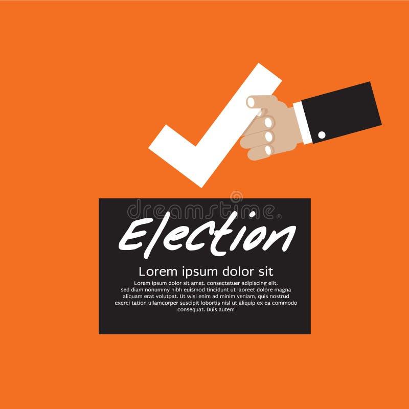 Voto para a eleição. ilustração royalty free