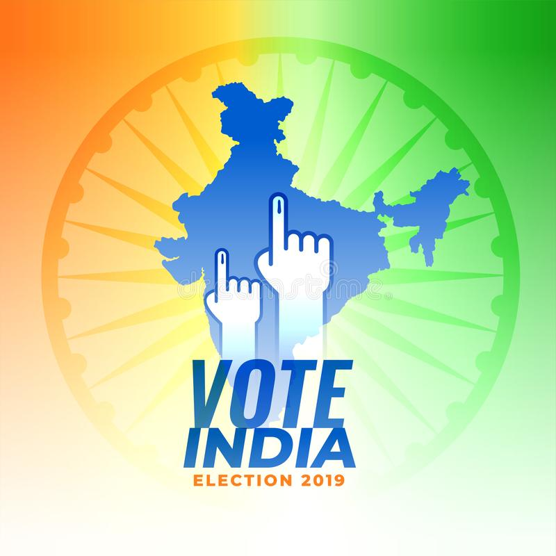 Voto para o fundo da eleição de india ilustração stock