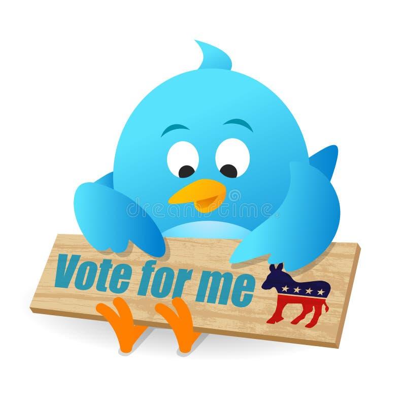 Voto per Democratico royalty illustrazione gratis
