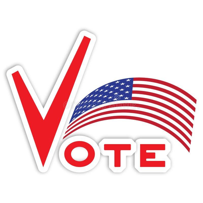 Voto per gli S.U.A. illustrazione di stock
