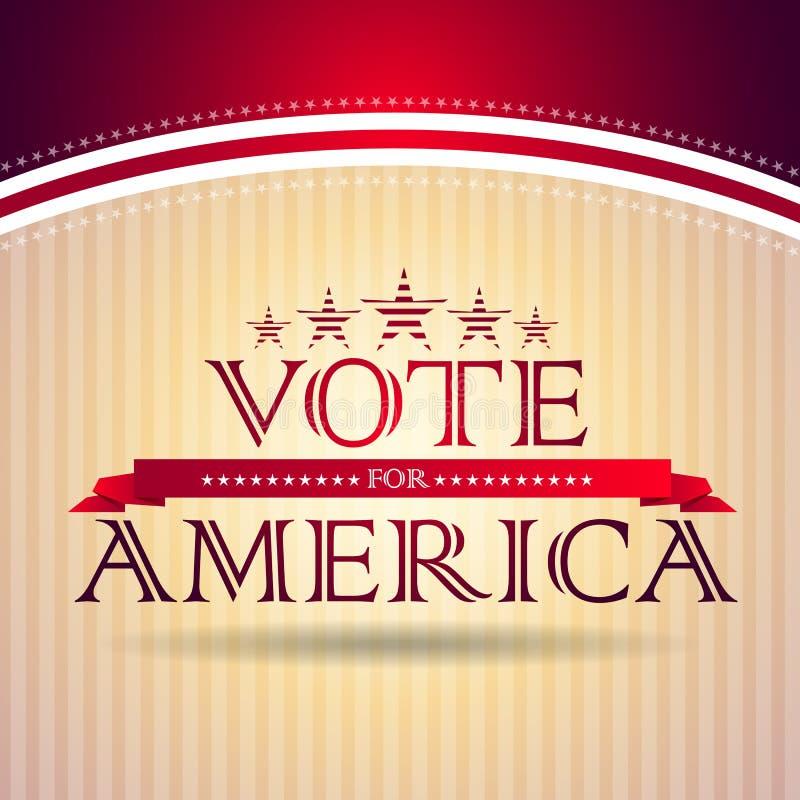 Voto per l'America illustrazione vettoriale