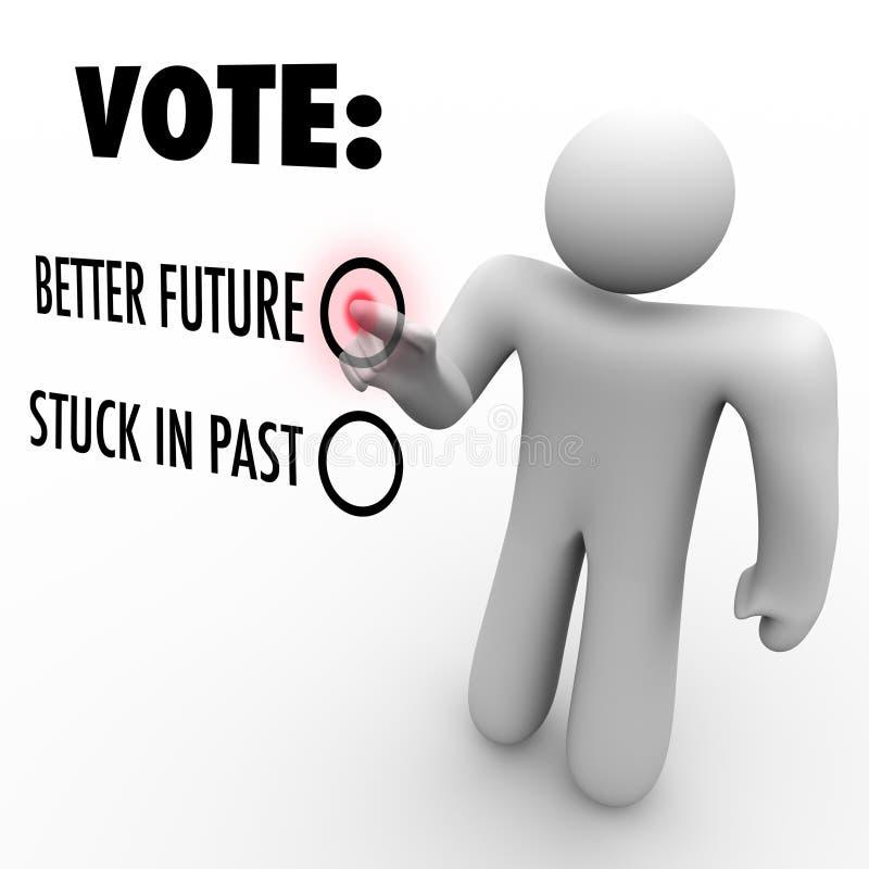 Voto per migliore futuro - elezione per cambiamento illustrazione di stock