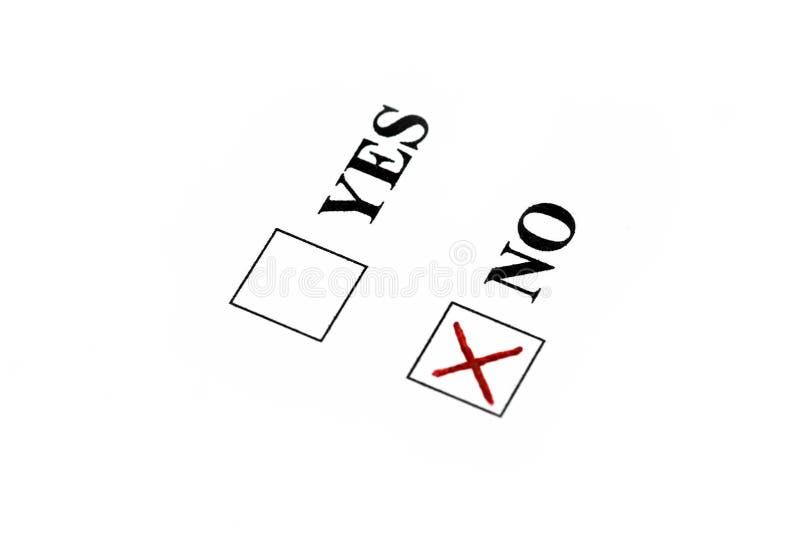 Voto per no fotografie stock libere da diritti