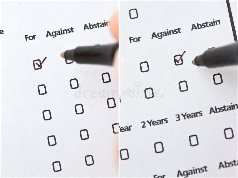 Voto per procura fotografia stock