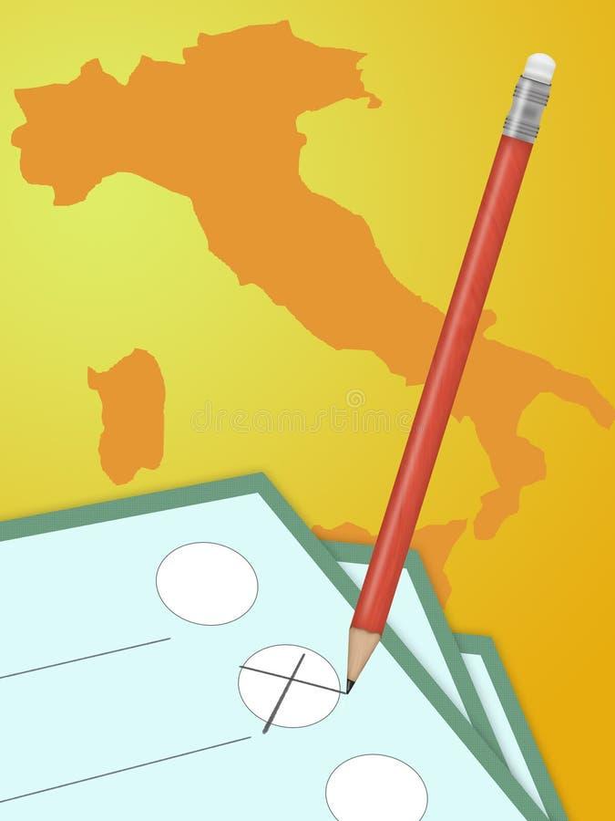 Voto político de Italy ilustração do vetor