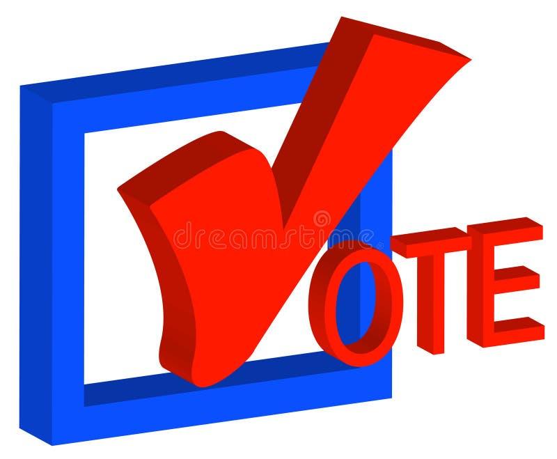 Voto político encorajador ilustração do vetor