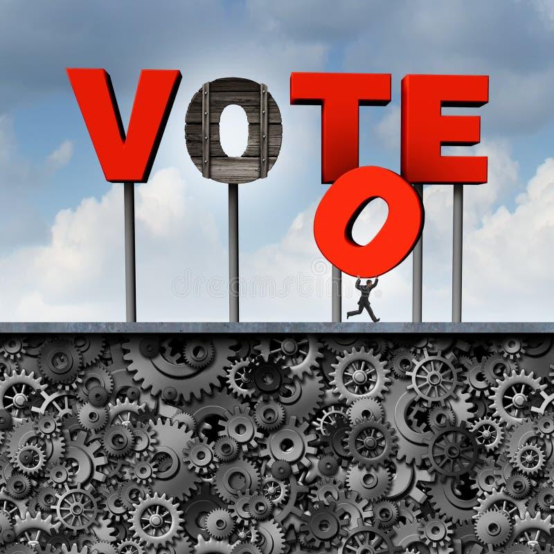 Voto roubado ilustração royalty free