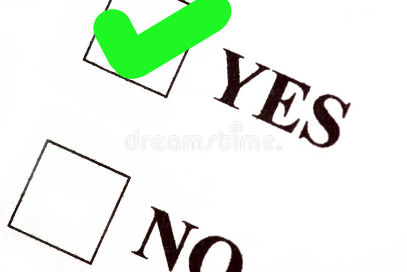 Voto sì illustrazione di stock