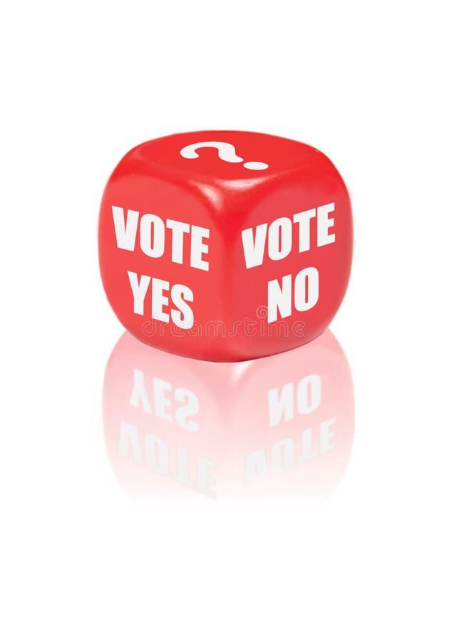 Voto sì nessun fotografia stock libera da diritti