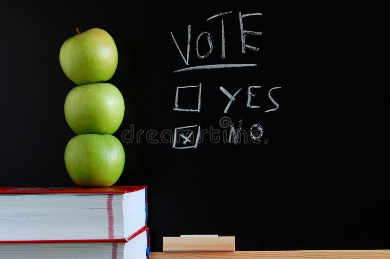 Voto sì o no immagini stock