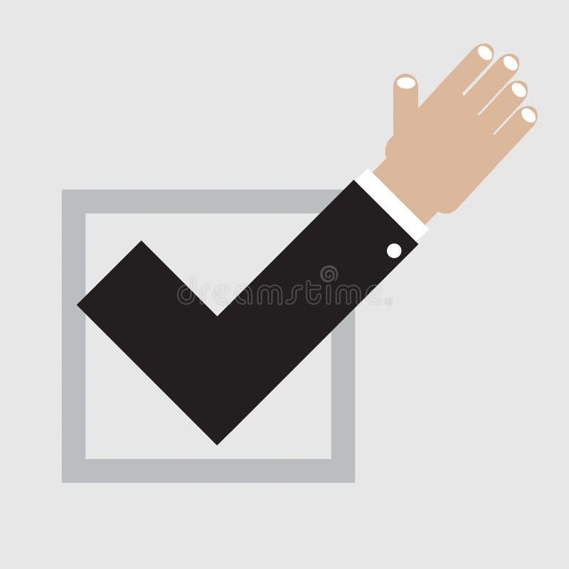 Voto sí. stock de ilustración