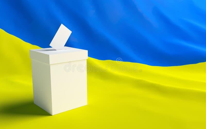 Voto Ucrânia ilustração royalty free