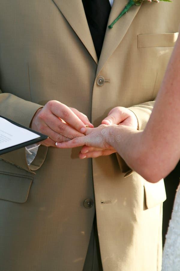 Votos de casamento fotografia de stock