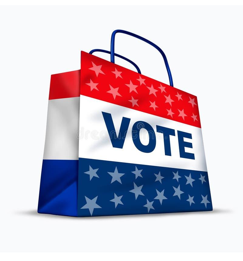Votos de compra e corrupção política ilustração do vetor