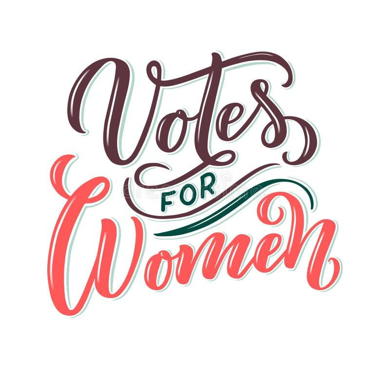 Votos para la mujer - letras de la cita Elemento de la tipografía del diseño gráfico de la inspiración de la caligrafía Postal es stock de ilustración