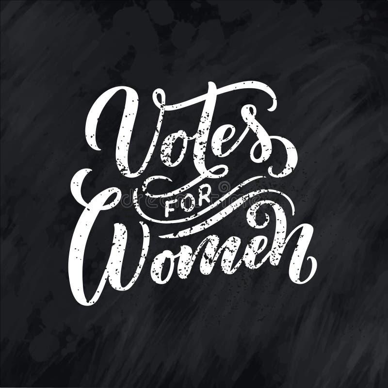 Votos para la mujer - letras de la cita Elemento de la tipograf?a del dise?o gr?fico de la inspiraci?n de la caligraf?a Postal es libre illustration