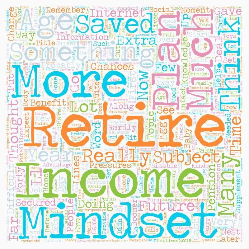 Votre âge détermine votre retraite illustration libre de droits