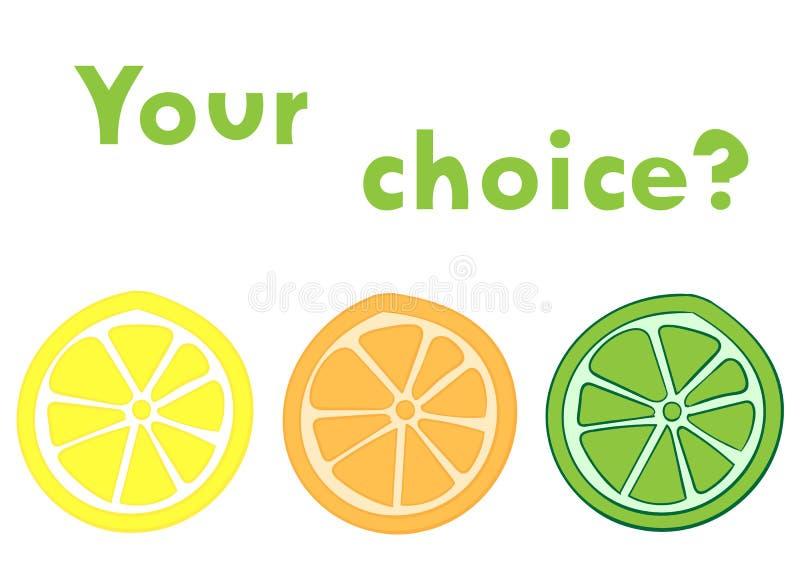 Votre choix illustration stock