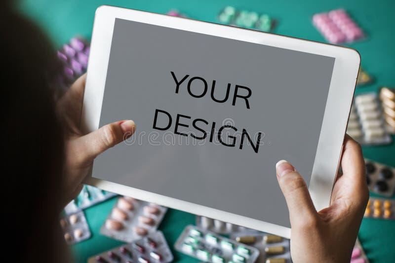 Votre contrôle de santé de médecine de conception image stock