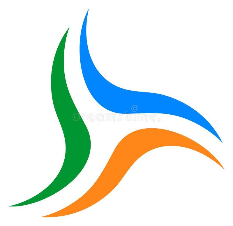 Votre emblème de société commerciale Logo de remous illustration stock
