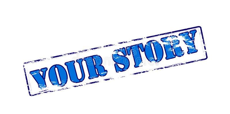 Votre histoire illustration stock