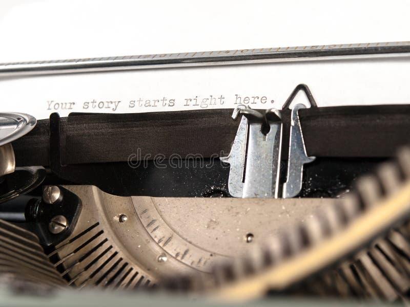Votre histoire commence ici images libres de droits