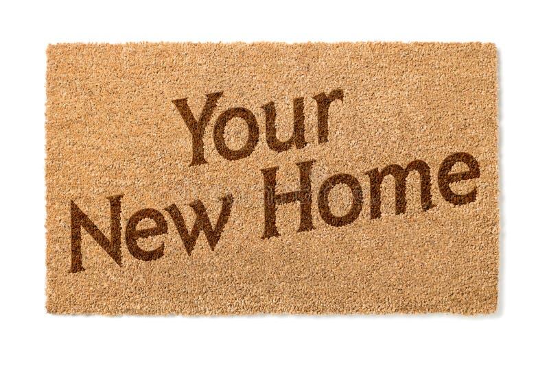 Votre nouvel accueil Mat On White de maison photos libres de droits