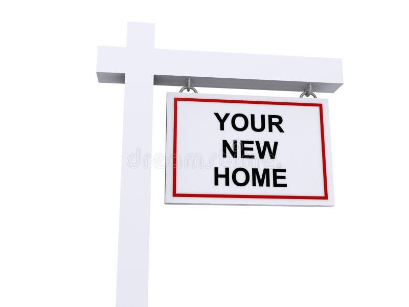 Votre nouvelle maison image stock