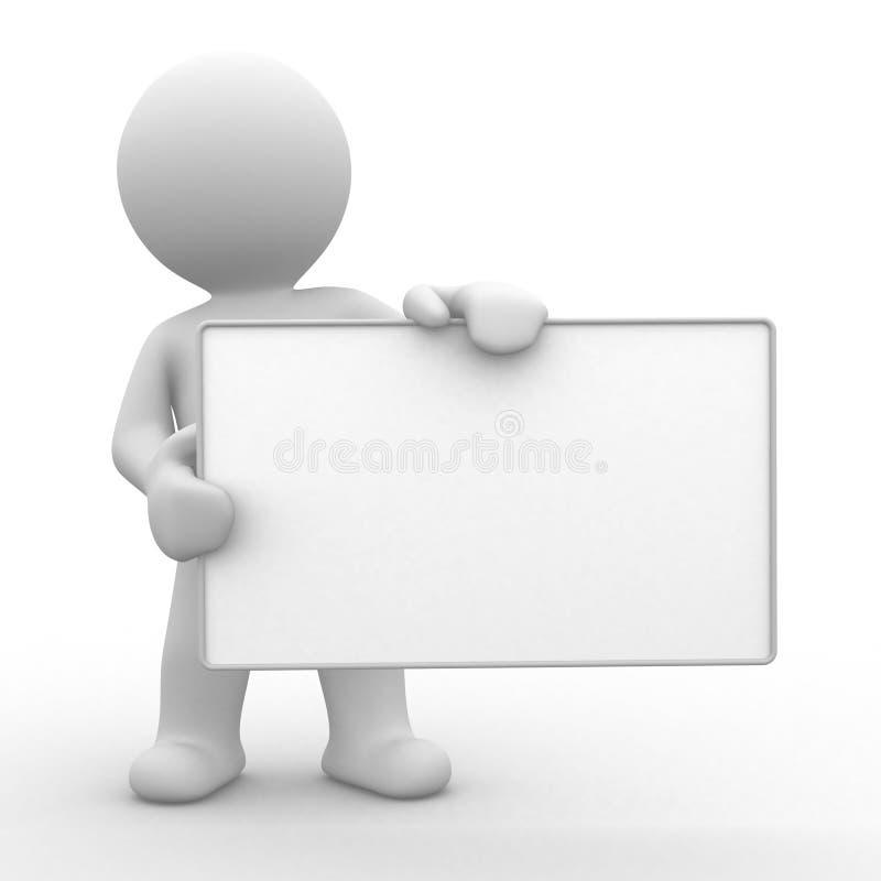 Votre panneau vide illustration de vecteur