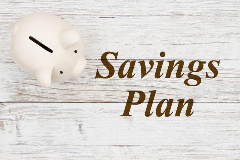 Votre plan d'épargne avec une tirelire image stock