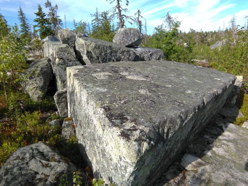 Vottovaara Karelië royalty-vrije stock afbeeldingen